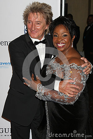 Gladys Knight,Rod Stewart Editorial Image