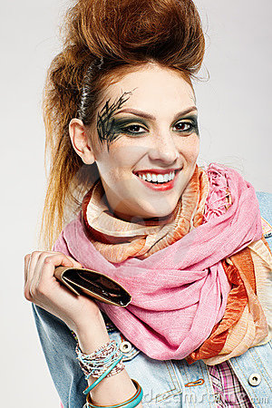 Glam Punk Girl Stock Image - Image: 15074541