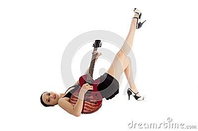 Glam Rock Pinup Girl