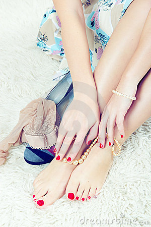 Glamor feet and hands