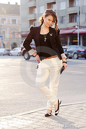 Free Glamor Model Posing In The City Stock Photos - 20161053