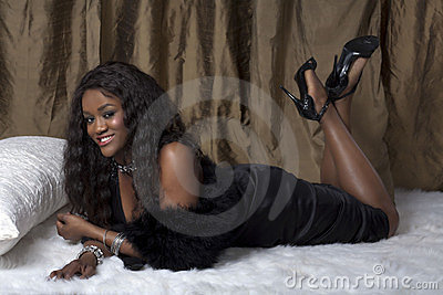 Glamorous Black Woman Royalty Free Stock Image - Image: 23371926