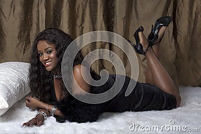 Glamorous black woman