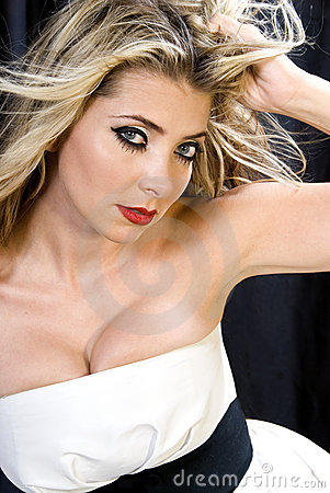 Glamorous blond.
