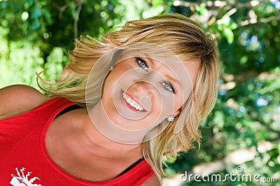 Glamorous blond woman