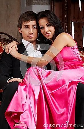 Glamorous couple