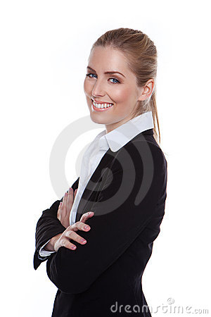 Glamorous Positive Smiling Businesswoman