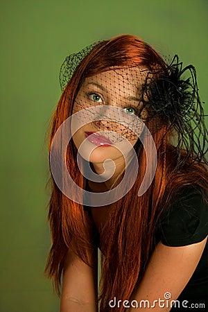 Glamorous redhead