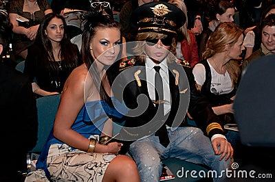 Glamorous star shock Sergey Zverev Editorial Stock Image