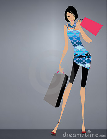 Glamour girl standing