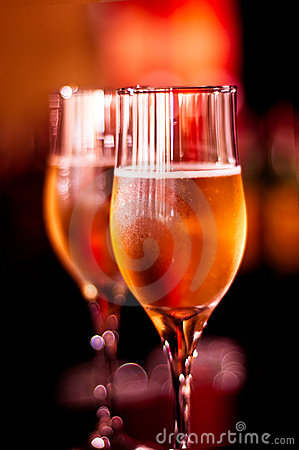 Glamour glasses with champagne