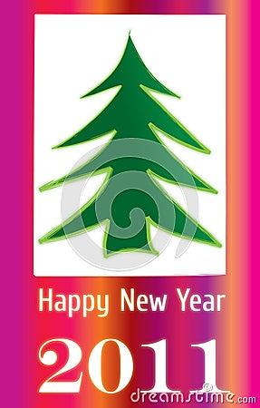Glamour glow 2011 greeting card