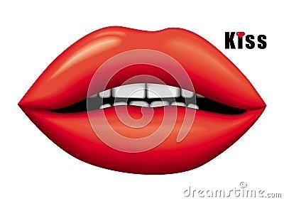 Glamour kiss vector