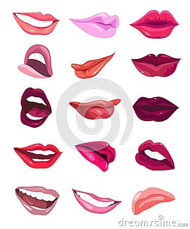Glamour lips set