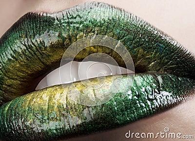 Glamour macro lips