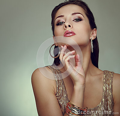 Glamour makeup woman posing. Art vogue