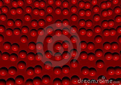 Glamour red balls carpet