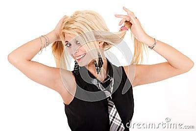 Glamour schoolgirl portrait