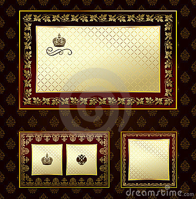 Glamour vintage gold frame decorative ornament