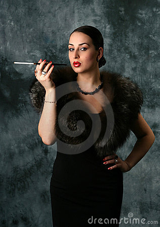Glamour Woman with cigarette