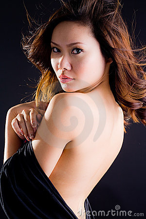 Glamourous asian woman