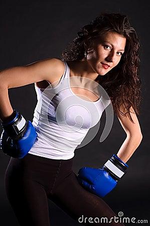 Glamourous boxer.