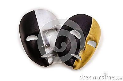 Glanzende geïsoleerdee maskers