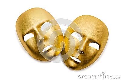 Glanzende geïsoleerdeg maskers