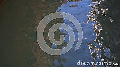 Glare på vatten, hav, Venedig, Italien lager videofilmer