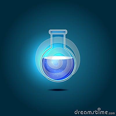 glas chemische fles met blauwe giftige vloeistof vector illustratie afbeelding 43484463. Black Bedroom Furniture Sets. Home Design Ideas