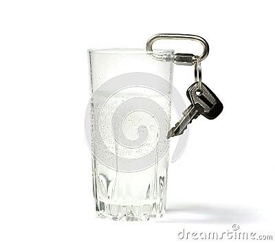 Glas met sleutels