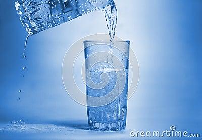 Glas mit Blasen