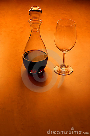 Glas and wine - serie (with copy space)