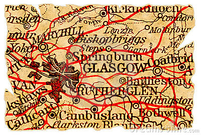 Glasgow old map