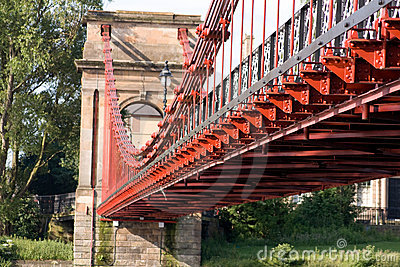 Glasgow Red Suspension Bridge