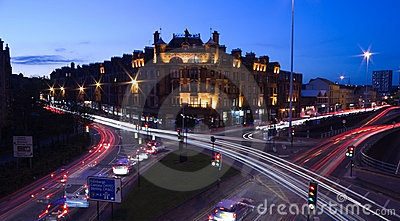 Glasgow streets at night
