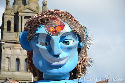 Big Man Walking, Merchant City Festival, Glasgow Editorial Photo