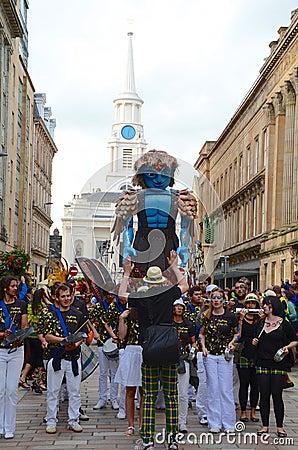 Big Man Walking, Merchant City Festival, Glasgow Editorial Stock Image