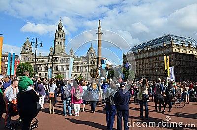 Big Man Walking, Merchant City Festival, Glasgow Editorial Image