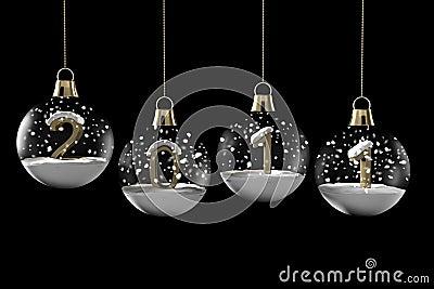 glaskugel weihnachten mit neuem jahr lizenzfreie. Black Bedroom Furniture Sets. Home Design Ideas