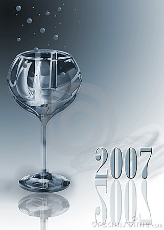 Free Glass 2007 Royalty Free Stock Photo - 558775