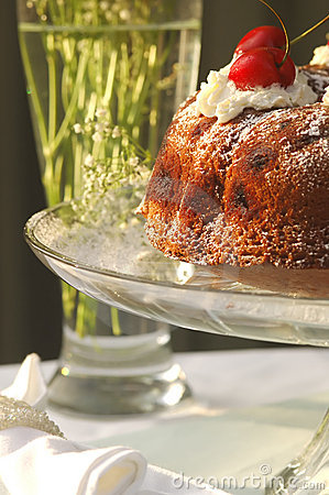Free Glass And Cake Stock Image - 820081