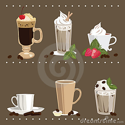 Free Glass And Cups With Coffee Royalty Free Stock Photography - 9879567