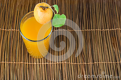 Glass apricot juice.