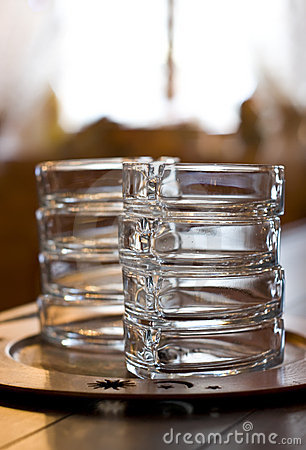 Free Glass Ashtrays On Bar Stock Photo - 5101070