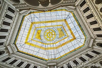 Glass atrium on the roof