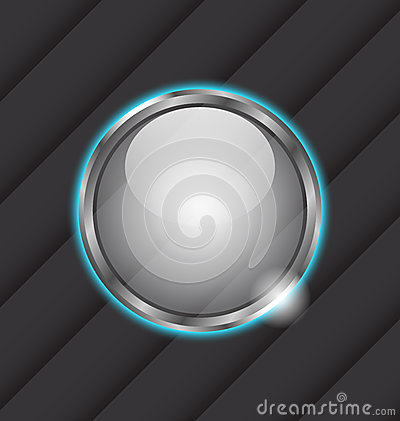Glass ball as  speech bubble