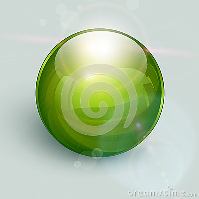 Glass ball  background