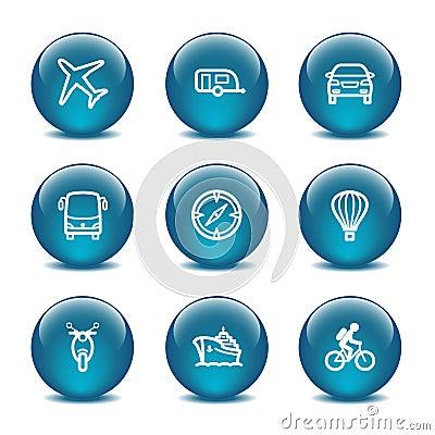 Glass ball web icons, set 20