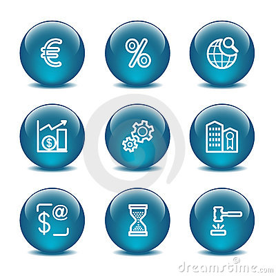 Glass ball web icons, set 25
